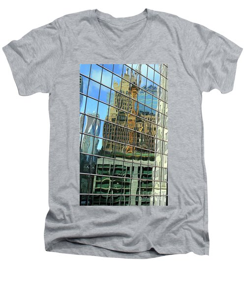 Reflective Chicago Men's V-Neck T-Shirt