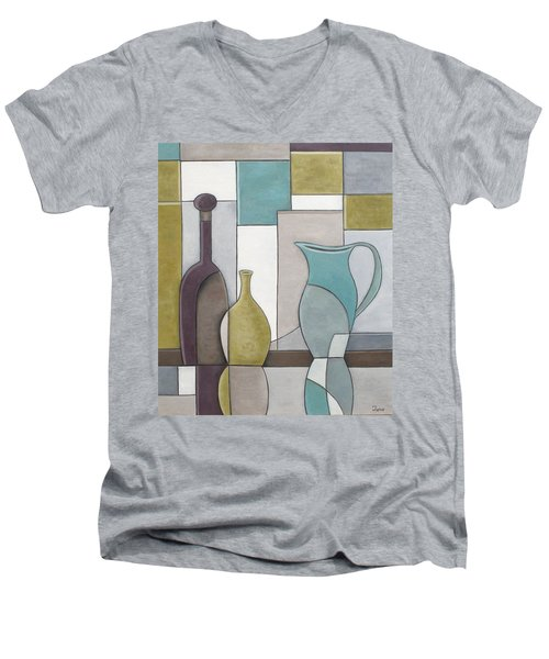 Reflectivity Men's V-Neck T-Shirt by Trish Toro