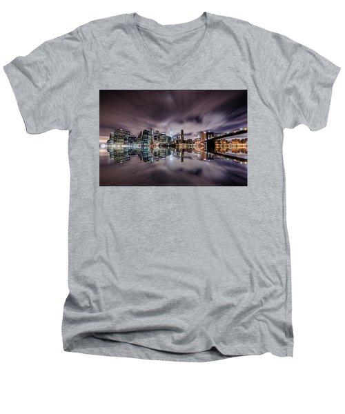 Reflector Adherence  Men's V-Neck T-Shirt