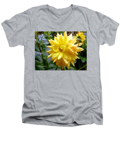 Refreshed Dahlia  Men's V-Neck T-Shirt