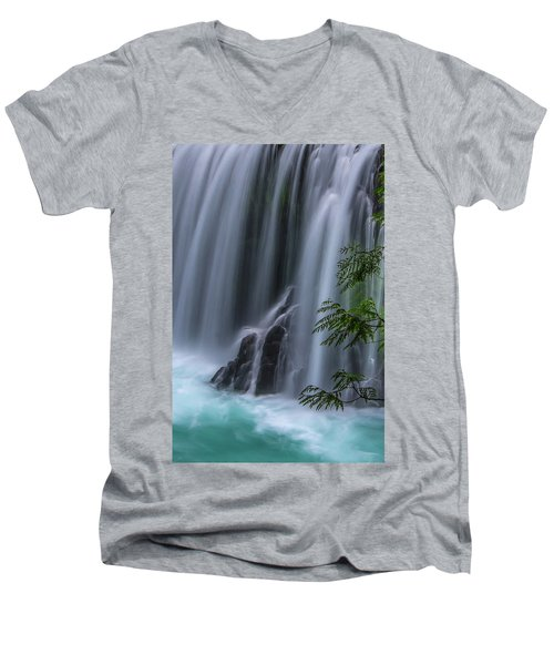 Refreshing Waterfall Men's V-Neck T-Shirt