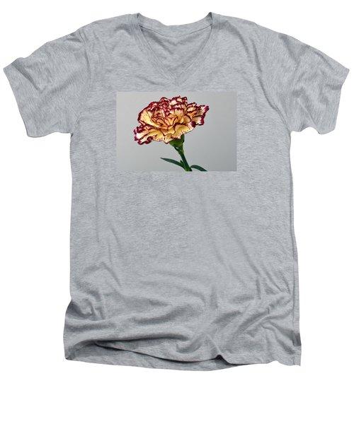 Regal Carnation Men's V-Neck T-Shirt by Terence Davis