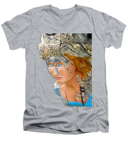 Regina Figurehead Men's V-Neck T-Shirt by Bob Slitzan