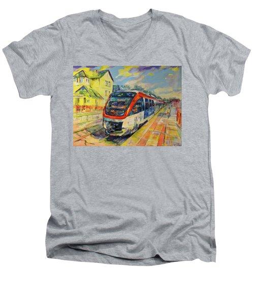 Regiobahn Mettmann Men's V-Neck T-Shirt
