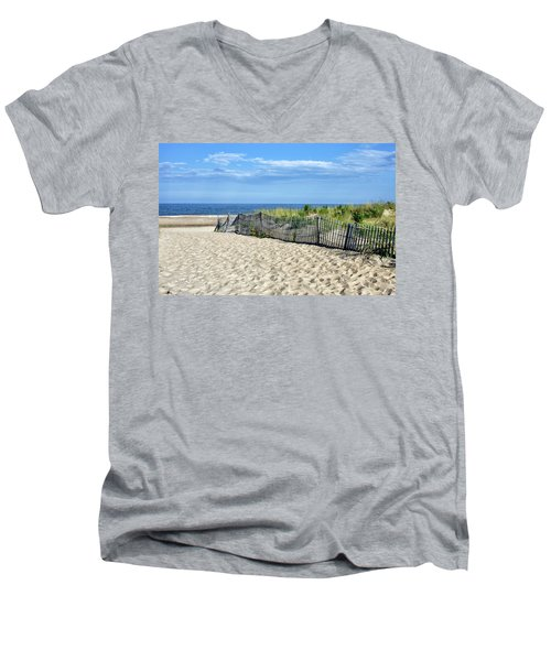 Men's V-Neck T-Shirt featuring the photograph Rehoboth Delaware by Brendan Reals