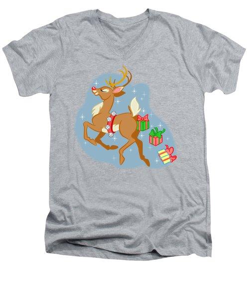 Naughty Reindeer Men's V-Neck T-Shirt