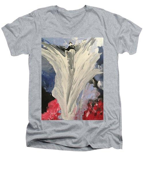 Rejoice Men's V-Neck T-Shirt by Karen Nicholson