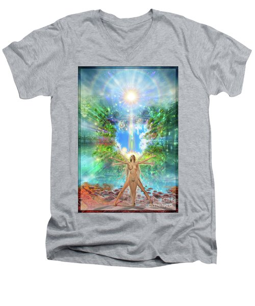 Rejoice-thy-young II Men's V-Neck T-Shirt