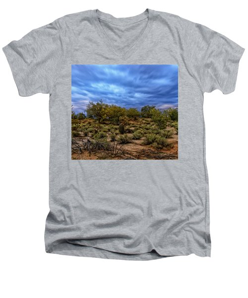 Men's V-Neck T-Shirt featuring the photograph Rejuvenation Op19 by Mark Myhaver