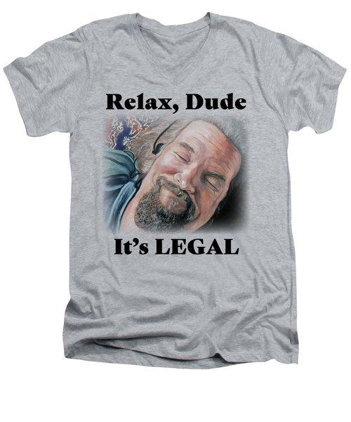 Relax, Dude Men's V-Neck T-Shirt