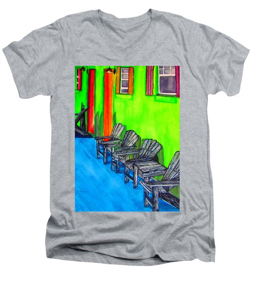 Relax Men's V-Neck T-Shirt by Lil Taylor