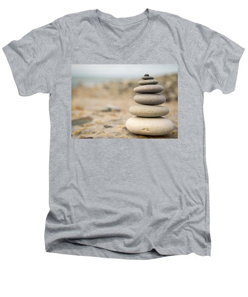 Men's V-Neck T-Shirt featuring the photograph Relaxation Stones by John Williams
