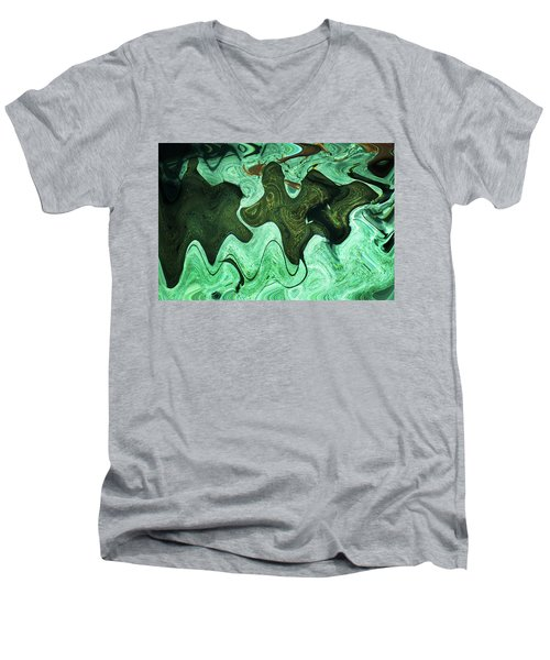 Relaxing Abstract Of Rays And Sharks Men's V-Neck T-Shirt