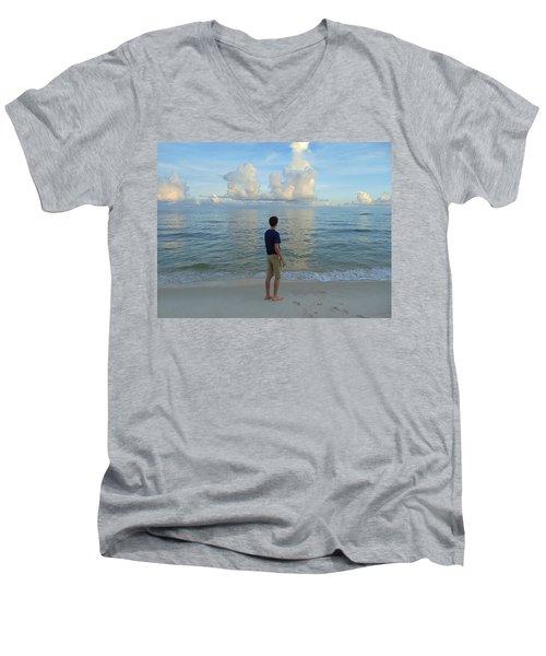 Relaxing By The Ocean Men's V-Neck T-Shirt