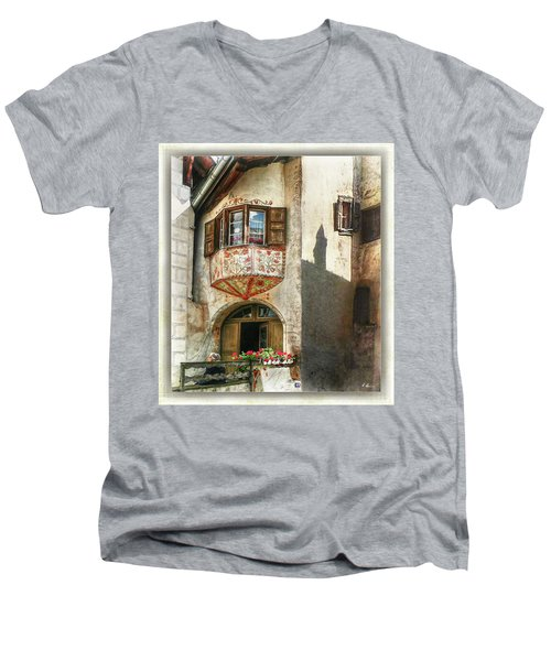 Men's V-Neck T-Shirt featuring the photograph Relaxing Evening Sun  by Hanny Heim