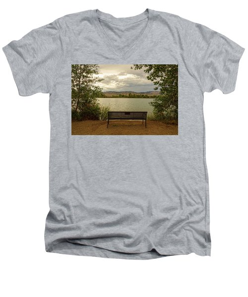 Men's V-Neck T-Shirt featuring the photograph Relaxing View by James BO Insogna