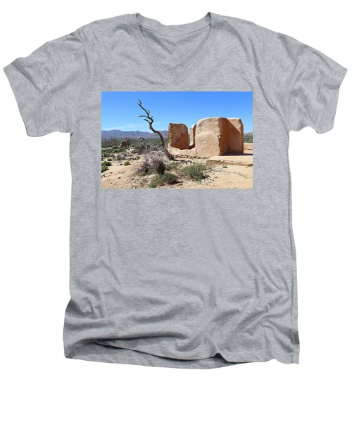Men's V-Neck T-Shirt featuring the photograph Remain Standing Of Ryan Ranch  by Viktor Savchenko