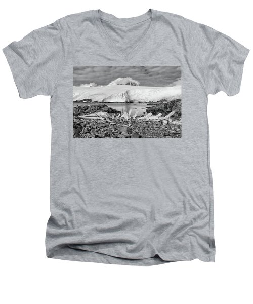 Men's V-Neck T-Shirt featuring the photograph Remains Of A Giant by Alan Toepfer