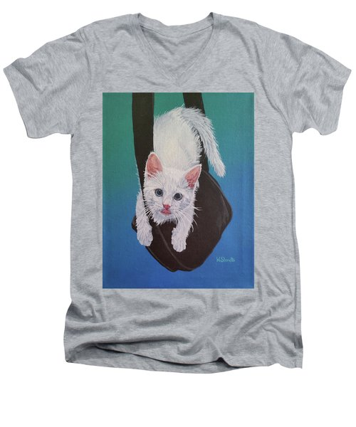 Rembrandt Justa Swingin Men's V-Neck T-Shirt by Wendy Shoults
