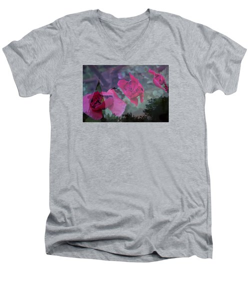 Remembered Men's V-Neck T-Shirt by Ellery Russell