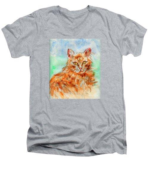 Remembering Butterscotch Men's V-Neck T-Shirt by P J Lewis
