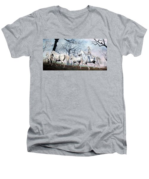 Remembering Days Of Grandeur Men's V-Neck T-Shirt