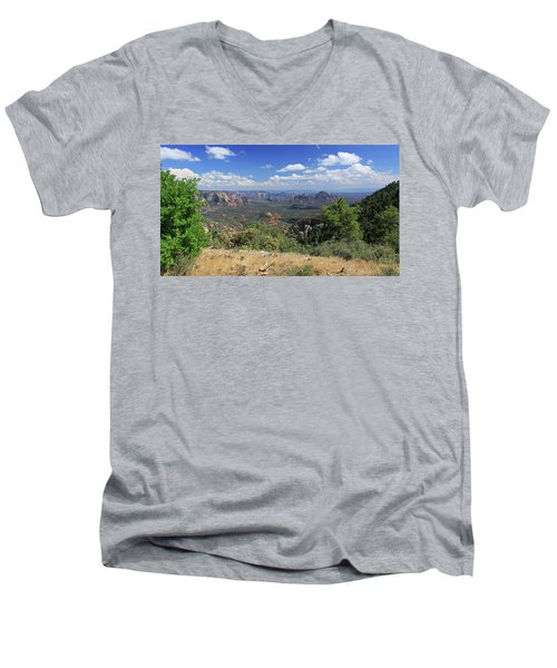 Men's V-Neck T-Shirt featuring the photograph Remote Vista by Gary Kaylor