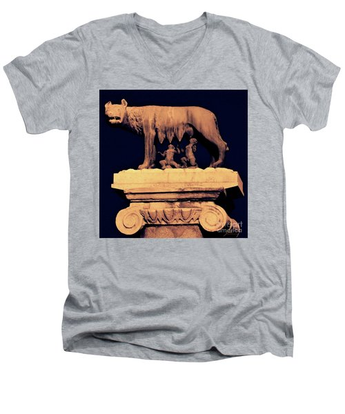 Remus And Romulus Men's V-Neck T-Shirt
