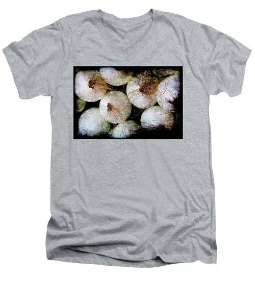 Renaissance White Onions Men's V-Neck T-Shirt
