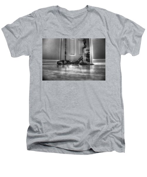 Rendezvous Do Not Disturb 05 Bw Men's V-Neck T-Shirt by Andy Lawless