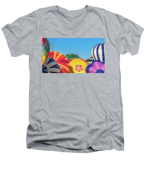 Men's V-Neck T-Shirt featuring the photograph Reno Balloon Races by Bill Gallagher