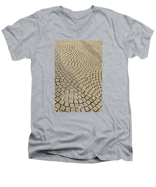 Men's V-Neck T-Shirt featuring the photograph Repetitions by Wanda Krack