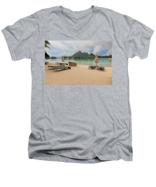 Resort Life Men's V-Neck T-Shirt by Sharon Jones
