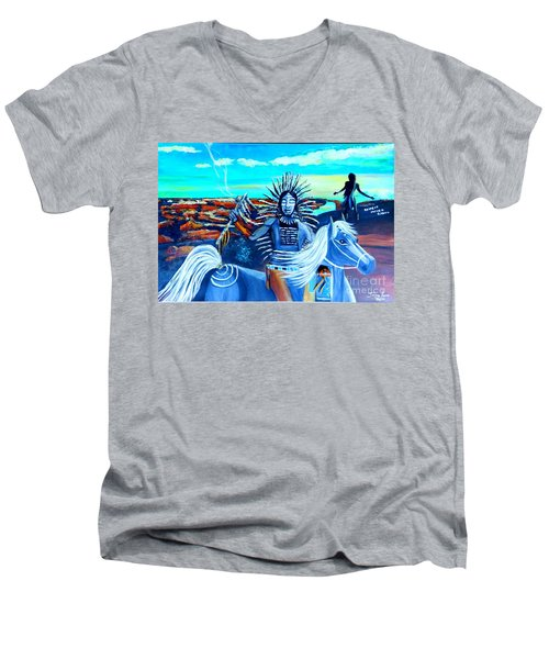 Respect Mother Earth Men's V-Neck T-Shirt
