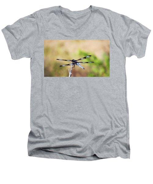 Rest Area, Dragonfly On A Branch Men's V-Neck T-Shirt