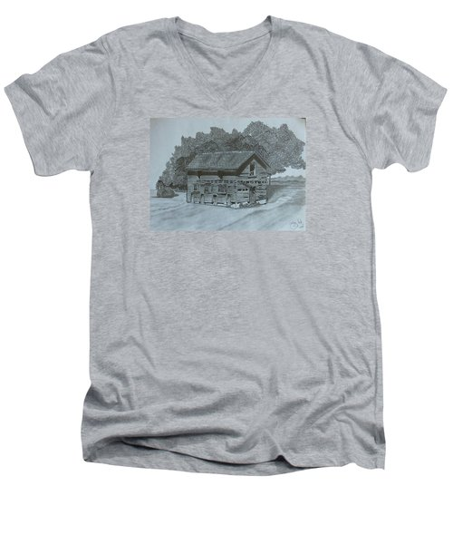 Rest In Pieces  Men's V-Neck T-Shirt by Tony Clark