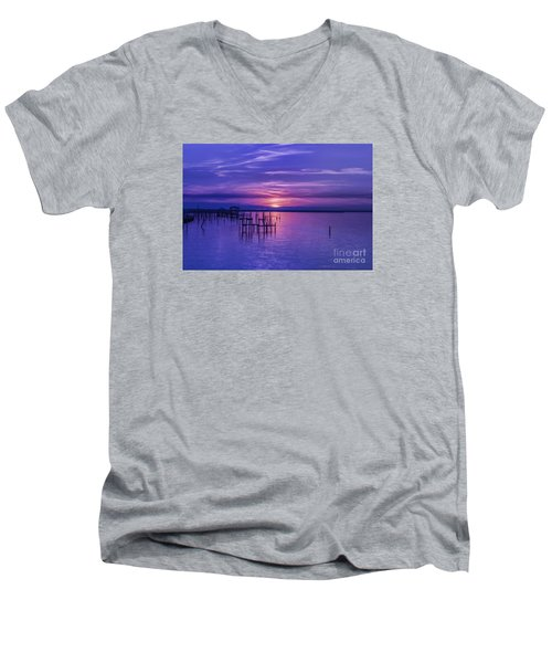 Rest Well World Men's V-Neck T-Shirt by Roberta Byram