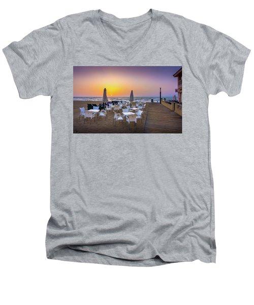 Restaurant Sunrise, Spain. Men's V-Neck T-Shirt