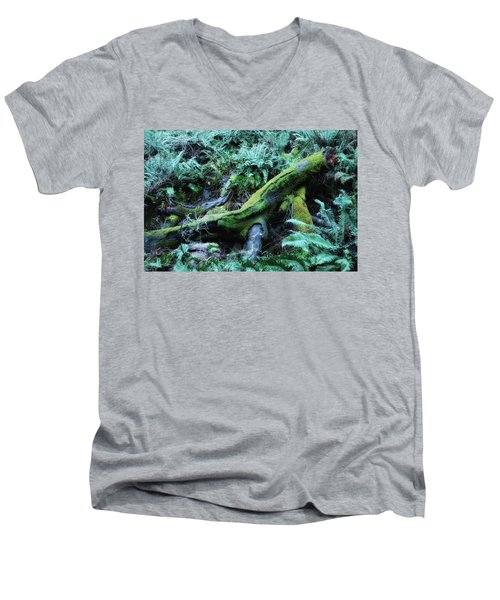 Resting Comfortably Men's V-Neck T-Shirt by Donna Blackhall