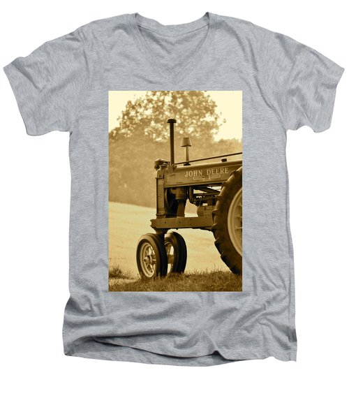 Resting In Sepia Men's V-Neck T-Shirt
