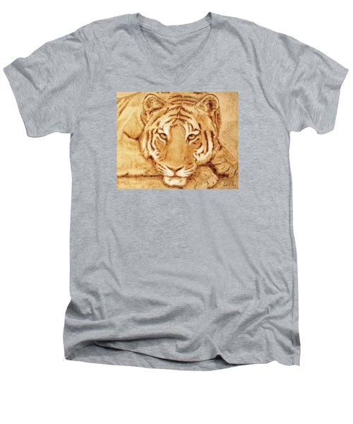 Resting Tiger Men's V-Neck T-Shirt