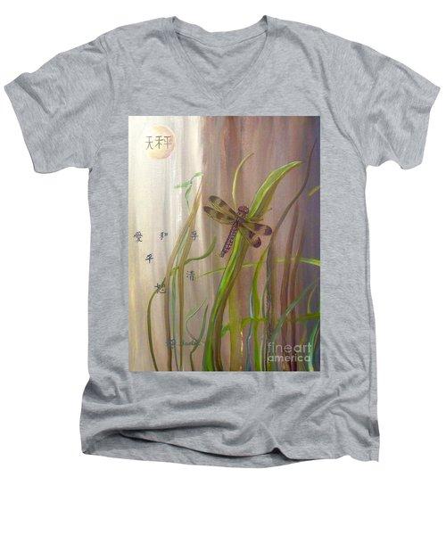 Restoration Of The Balance In Nature Cropped Men's V-Neck T-Shirt