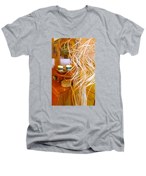 Men's V-Neck T-Shirt featuring the photograph Restorative Beauty by Randy Rosenberger