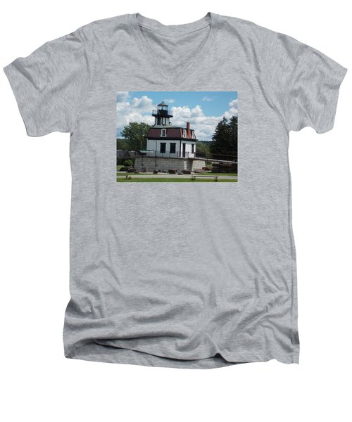 Restored Lighthouse Men's V-Neck T-Shirt