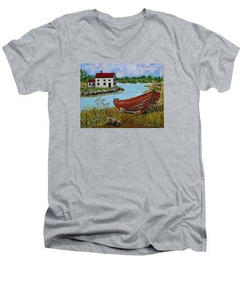 Retired Men's V-Neck T-Shirt by Mike Caitham