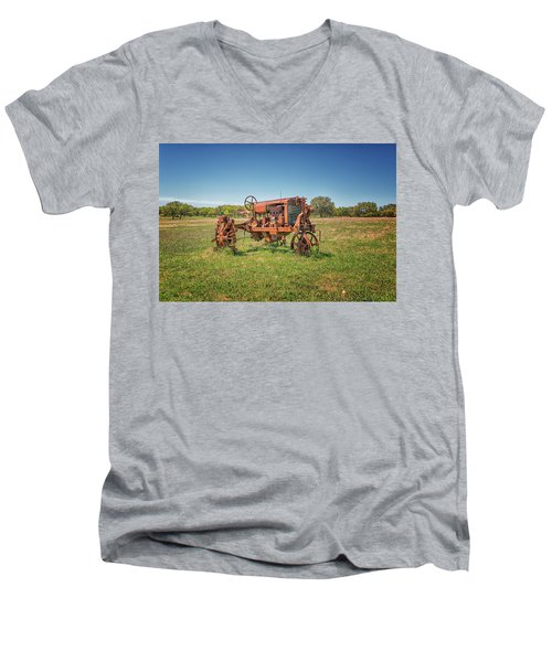 Retired Tractor Men's V-Neck T-Shirt