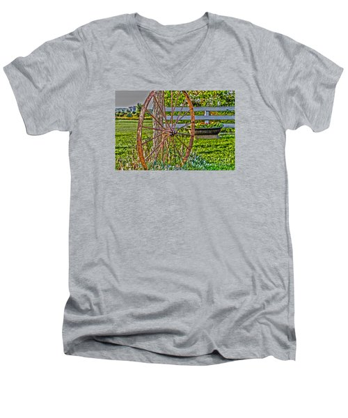 Retired Men's V-Neck T-Shirt by William Norton