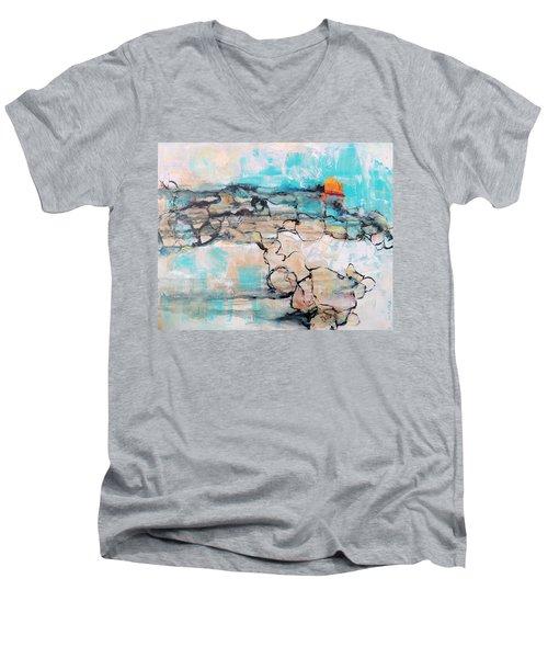 Retreat Men's V-Neck T-Shirt by Mary Schiros