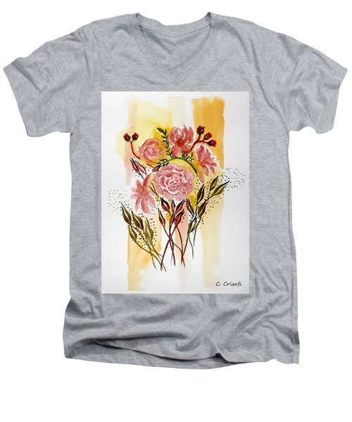 Retro Florals Men's V-Neck T-Shirt