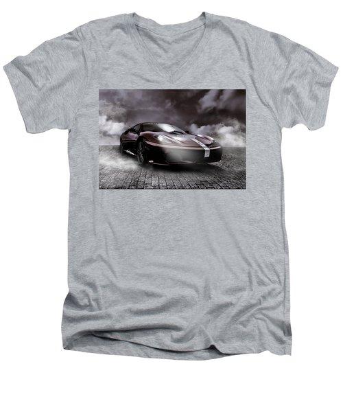 Retro Sports Car - Formule 1 Men's V-Neck T-Shirt by Yvon van der Wijk